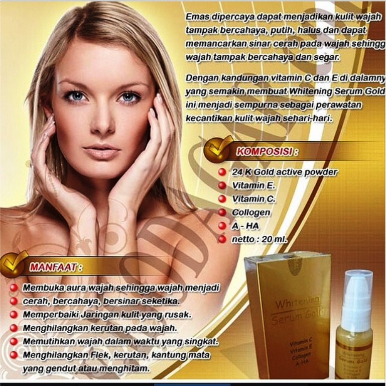 SERUM MAGIC KOREA WHITENING GOLD WAJAH BEBAS JERAWAT FLEK